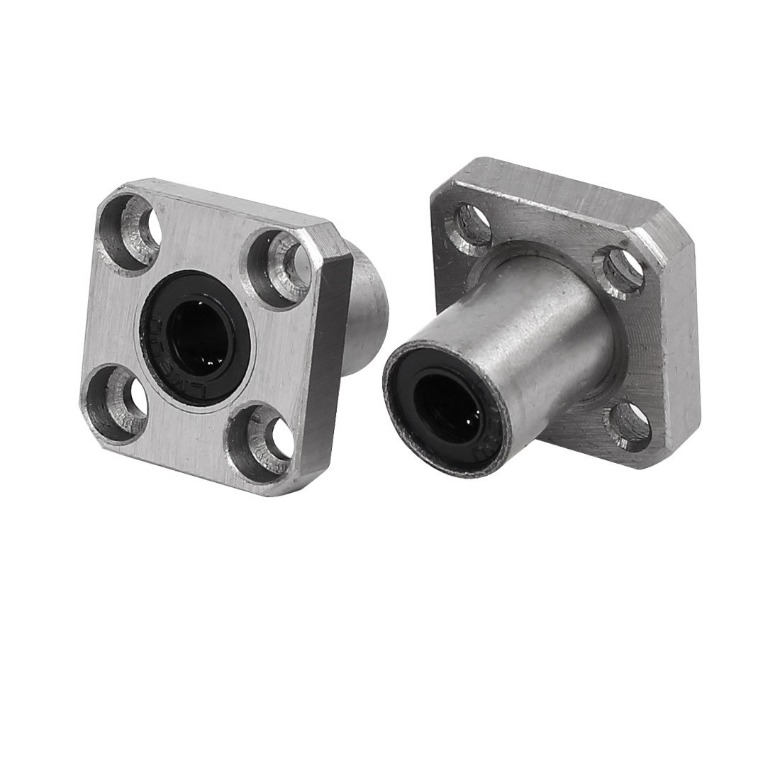 sourcingmap® 6mm Inner Dia Carbon Steel Square Base Flange Linear Bearing LMK-LUU6 2pcs a17032200ux0003