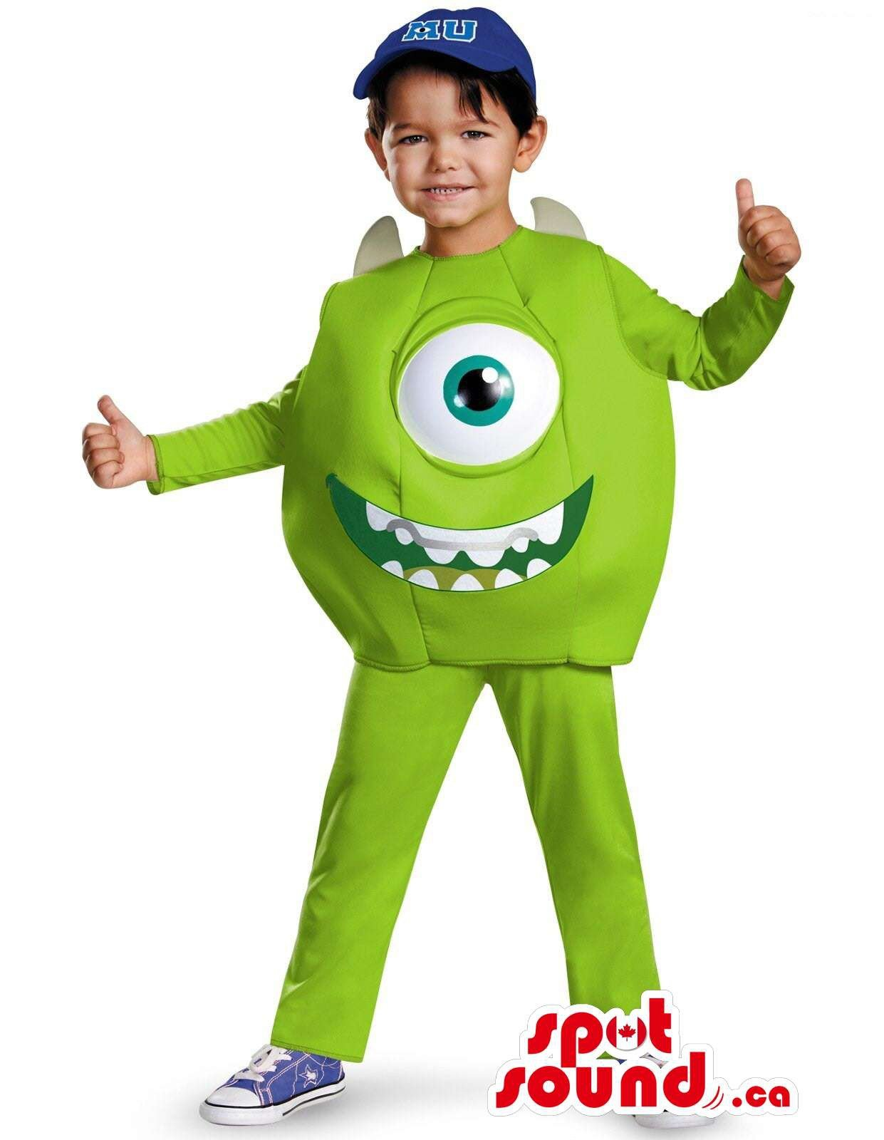 Cute Green Monsters Inc. Movie Character Children Size Costume