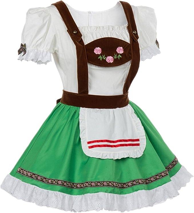 Prettycos Disfraz de Bavara Oktoberfest para Mujer Vestido ...