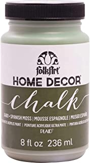 product image for FolkArt Home Decor Chalk Furniture & Craft Paint in Assorted Colors, 8 ounce, Spanish Moss