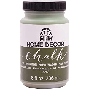 FolkArt Home Decor Chalk Furniture & Craft Paint in Assorted Colors (8 Ounce), 34801 Spanish Moss