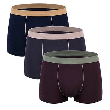 b54686c98cdb Respeedime Men's Modal Underwear Ice Silk Cotton Stretch 3 Pack Boxer Briefs  Mix Color 1 XXXL