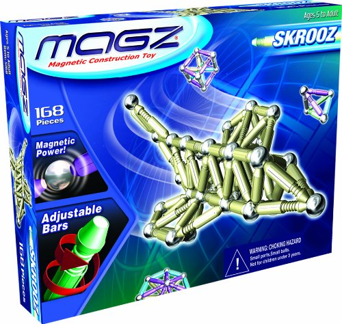 Skrooz 168 Piece Magnetic Construction Set With Adjustable Length Bars Magz S168