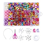 Beadthoven Children DIY Acrylic Beads Sets with 24 Different Types and Shaped Colorful Jewelry Beads and Jewelry Accessories for Kids Necklaces Bracelets Crafts, Great Gift for Kids (#2)
