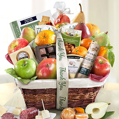 Golden State Fruit Gourmet Abundance Gift Basket, Thank You