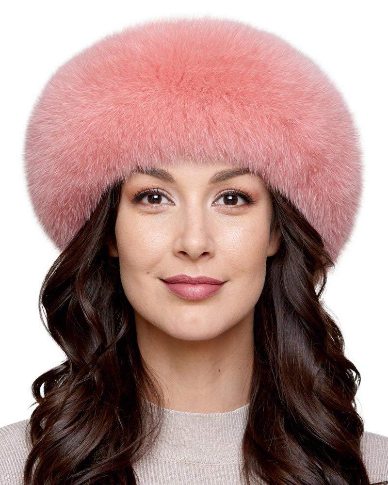 Salmon Fox Fur Headband