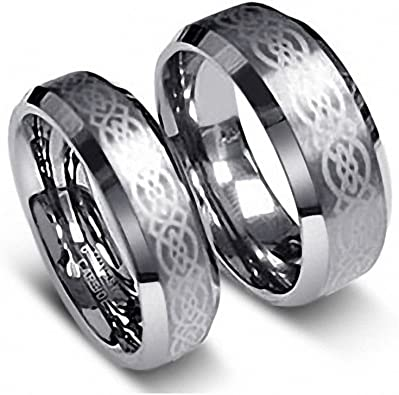 Tungsten Ring Set BevelCeltic1-1 product image 11