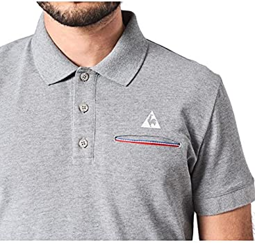 Le Coq Sportif Partido Polo SS Light grey, Polo - XS: Amazon.es ...
