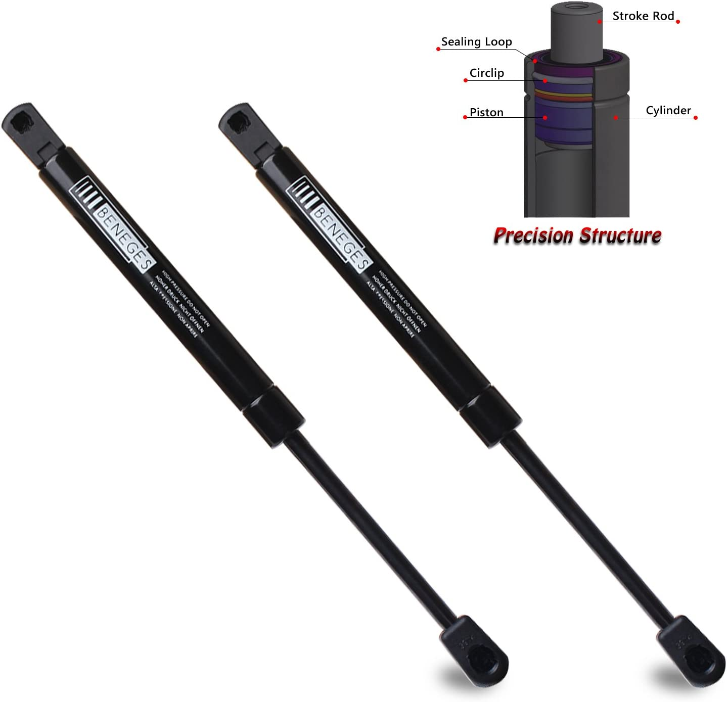 2000-2005 Monte Carlo With Spoiler 2pcs Trunk Lid Lift Supports Struts Shocks for Chevrolet Impala