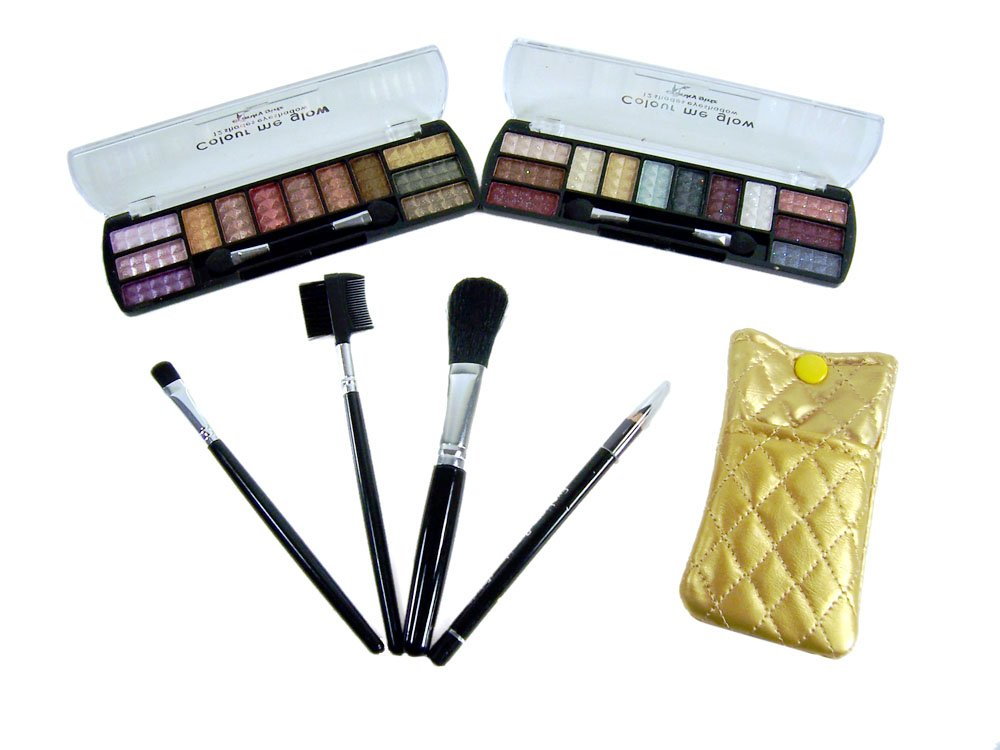 Lady De 24 Colors Eye Shadow Make Up Kit Set Combo (MADE BY PROFUSSION) (Gold)