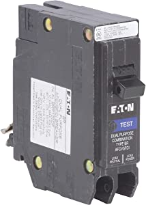 Eaton 20 amps Arc Fault/Ground Fault Single Pole Circuit Breaker