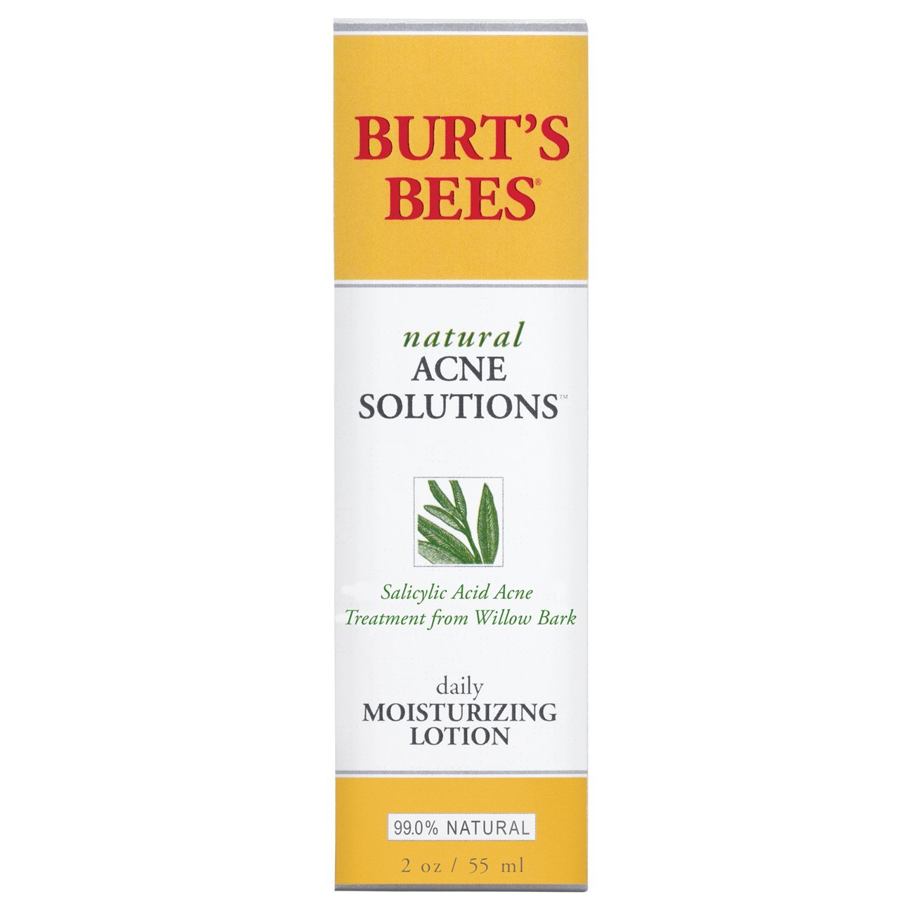 Burt's Bees Natural Acne Solutions Daily Moisturizing Lotion, Face Moisturizer for Oily Skin