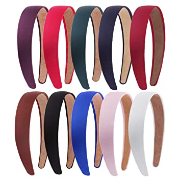 PLAIN SATIN ALICE BAND Pack of 10  HAIR BAND HEADBAND
