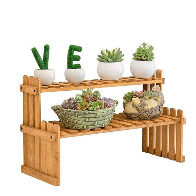 Casas de jardín Nivel 6 mini planta de soporte de madera estante ...
