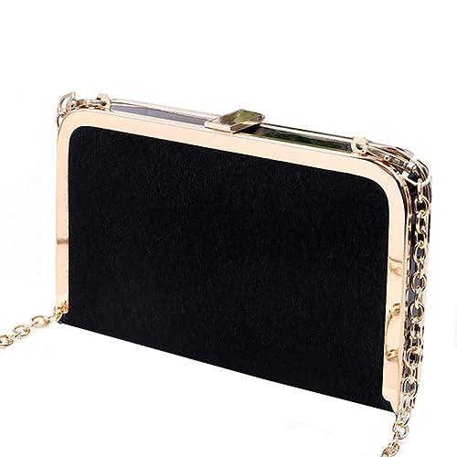 MILY color sólido bolsa de noche bolso de embrague duro caso fiesta bolso Clutch con cadena desmontable: Amazon.es: Zapatos y complementos