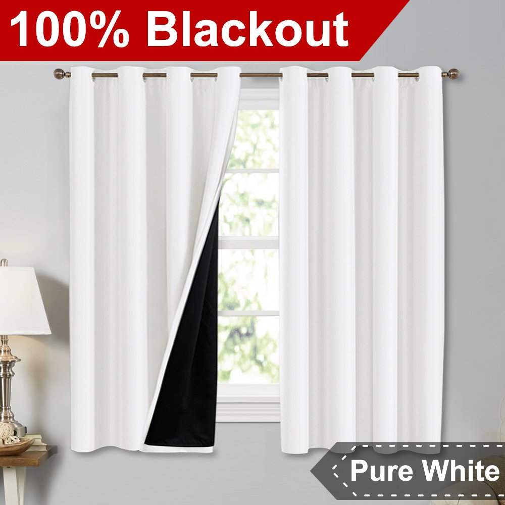 Blackout Window Treatment Thermal Insulated Drapes for Kitchen / Bedroom