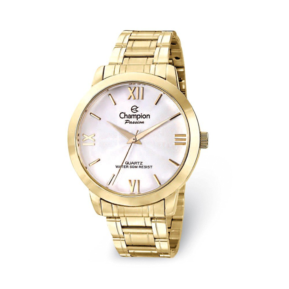 Champion Passion Gold-tone White Dial Watch