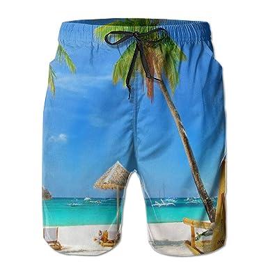 be9bafe313 Zzfsxt Beach Palm Tree Man 3D Print Graphic Quick Drying Boardshort Swim  Surf Trunk Short Beach