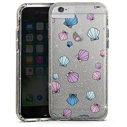 Apple iPhone 6s Bumper Hülle Bumper Case Glitzer Hülle Muscheln ohne Hintergrund Muster