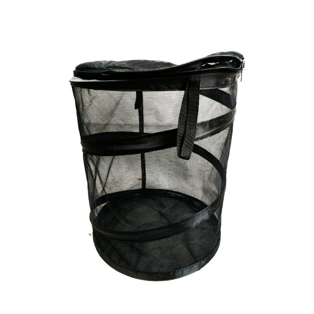 VORCOOL PVC Foldable Insect Butterfly Habitat Cage Terrarium Pop-up Mesh Butterfly Garden (Black)
