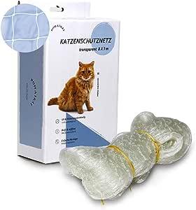 POMAIKAI Cat Safety Net para balcón, ventana y terraza, malla transparente de protección para gatos incl. Kit de instalación 8x3m: Amazon.es: Productos para mascotas