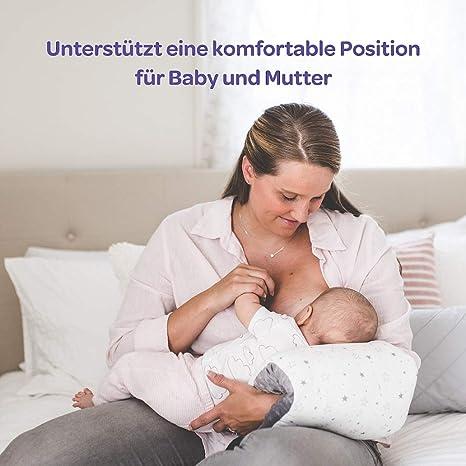 Almohada de lactancia de Lansinoh. Cojín de lactancia que ayuda a que las sesiones de lactancia sean más cómodas tanto para la mamá como para el bebé.
