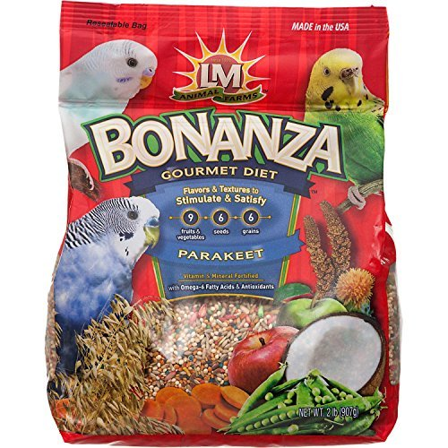 nza Gourmet Diet Parakeet Bird Food by LM Animal Farms (Bonanza Parakeet Gourmet Diet)
