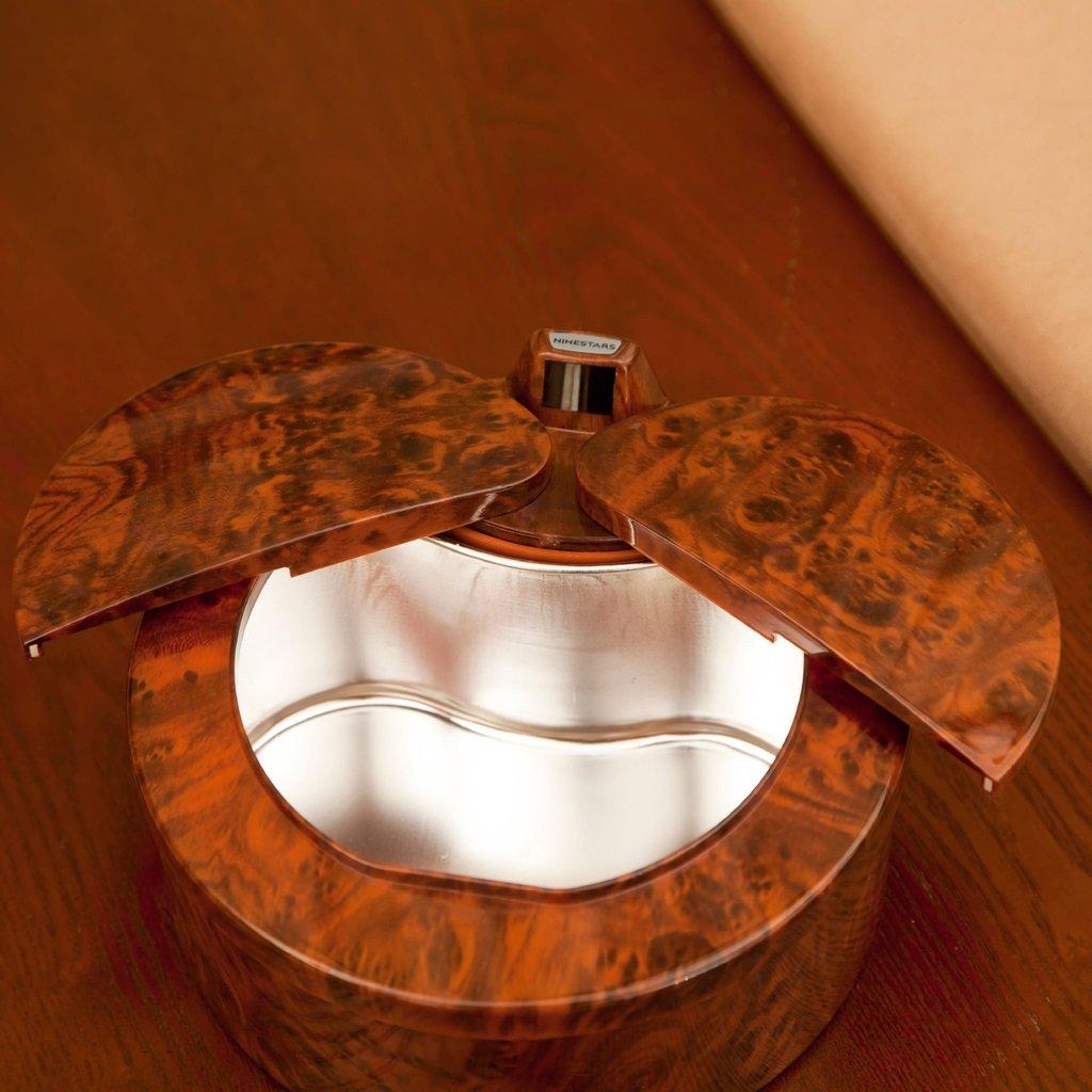 Jlxl Smart Sensor Trash Mini Desktop Storage Tube Peach Wood Trash by Jlxl (Image #7)