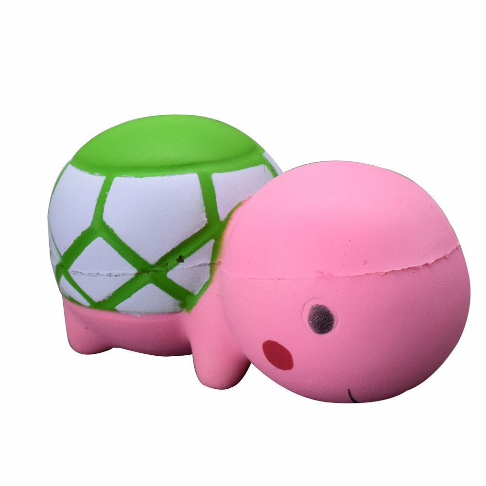 F_topbu Squishy Toy Jumbo Squeeze Toys Kawaii Cartoon Cute Tortoise Cream Scented Slow Rising Squishies Charms for Kid and Adults, Funny Lovely Toy Stress Relief Toy Cell Phone Straps Key Chains Toy