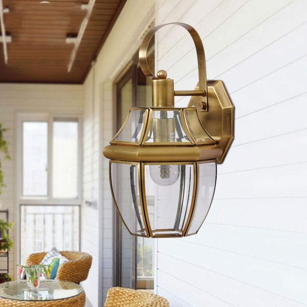 Luz de pared Lámpara de pared americana de la cabeza europea a prueba de agua a prueba de agua de la lámpara de pared del pasillo del pasillo del pasillo del pasillo de balcón de la lámpara de jardín