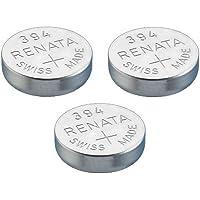Renata Single Watch Battery Swiss Made Renata 394 or SR936SW Or AG9 1.5V (3 x 394 Or SR 936 SW)