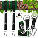 Tree Swing 6FT Straps Bundle by Wave-Energy – Easy Installation Tree Swing Hanging Kit – Perfect for Child Swing, Circle Swing, Hammock, Swing Sets + More – PLUS BONUS Tree Saver Tree Protector Tubes