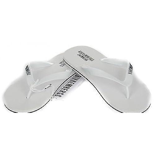 Playa flip flop zapatillas BIKKEMBERGS P304 W71 43 1100 blanco color tamano: Amazon.es: Zapatos y complementos