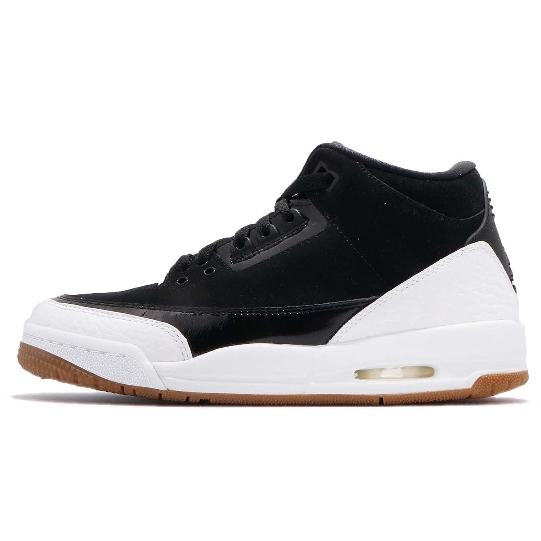 NIKE Air Air Air Jordan 3 Retro GS Hi Top 441140 Sneakers Chaussures 38 EU|Blanc/Noir cc6b6c
