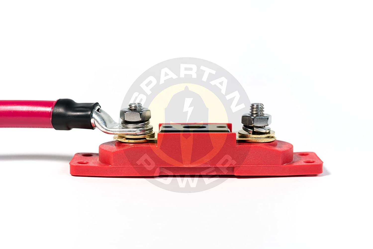 Spartan Power 400 Amp ANL Fuse /& Holder Kit with 12 Inch 4//0 AWG Cable Made in America