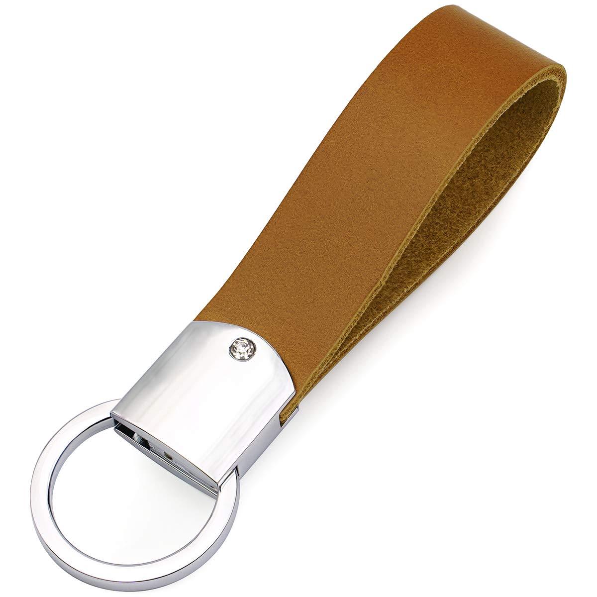 Portachiavi in pelle portachiavi in pelle DPOB Black Design semplice Realizzato in resistente pelle di qualit/à Premium