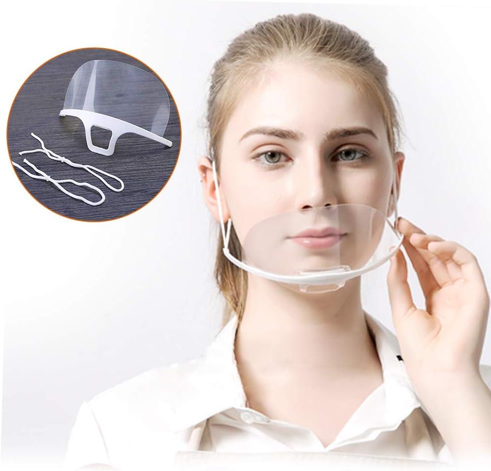 10 St/ück Mund Gesichtsschutz aus Kunststoff Gesichtsschild Schutzschild Schutzvisier Visier