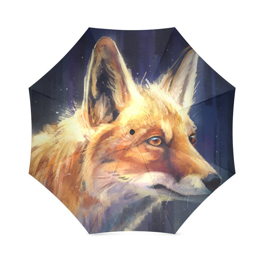 Amazon Com Outdoor Umbrella Painting Fox Student Umbrella Folding