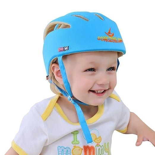 Newcomdigi Baby Helmet Schutzhelm Babyhelm Helmm/ütze Kopfschutzm/ütze gegen St/ö/ße f/ür Kleinkind aus weicher Baumwolle Verstellbar Sto/ßfest