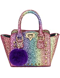 Toddlers Purse for Little Girls Rainbow Glitter Crossbody...