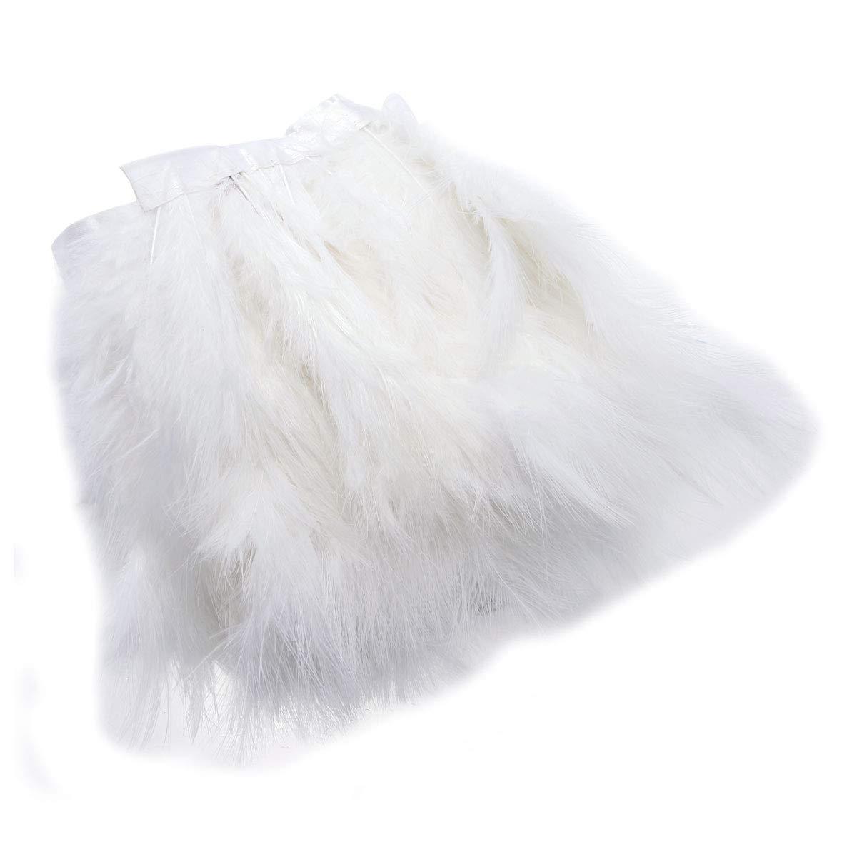 dise/ño de plumas de pavo azul 2 m Adornos de costura para sombrero SurePromise