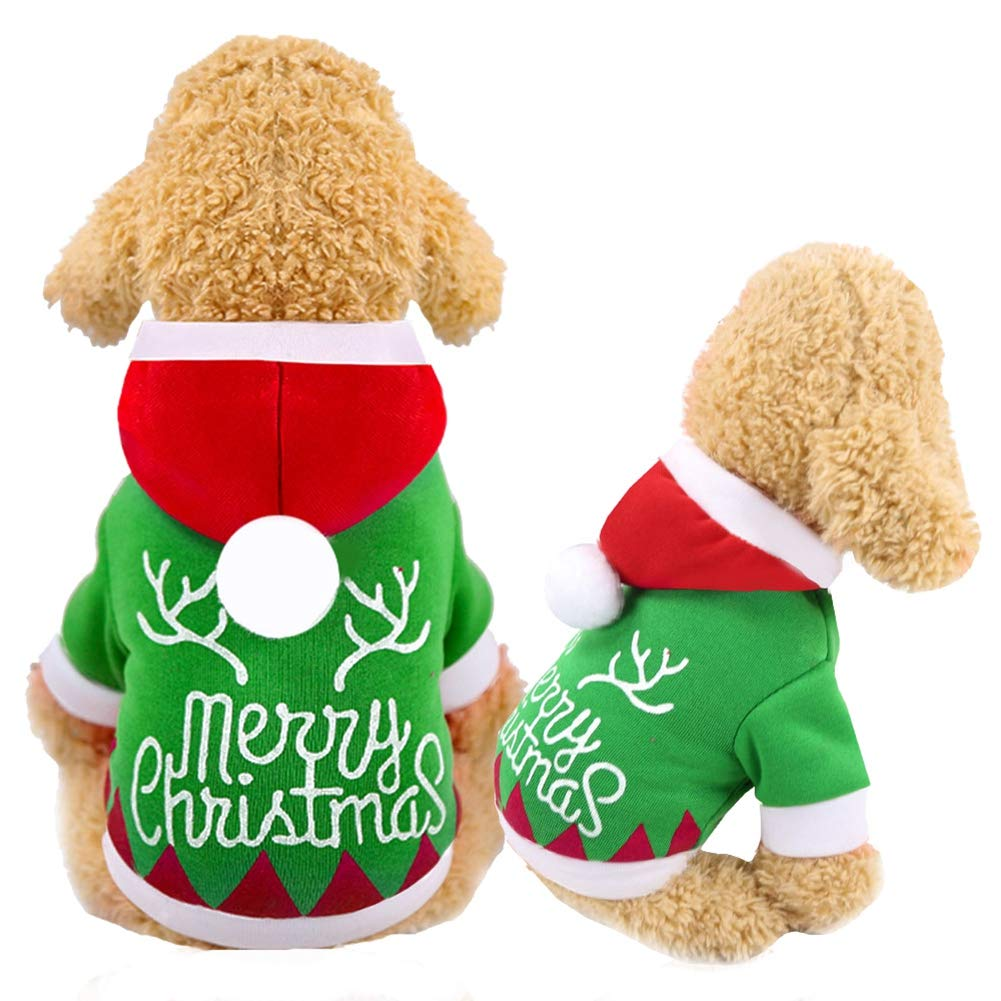 Handfly Mascota Perro Gato Ropa de Navidad Traje de Perro de Navidad Trajes de Gato Sudaderas con Capucha para Perros Su/éter para Perro Abrigo de Invierno para Mascotas Ropa para Perros peque/ños