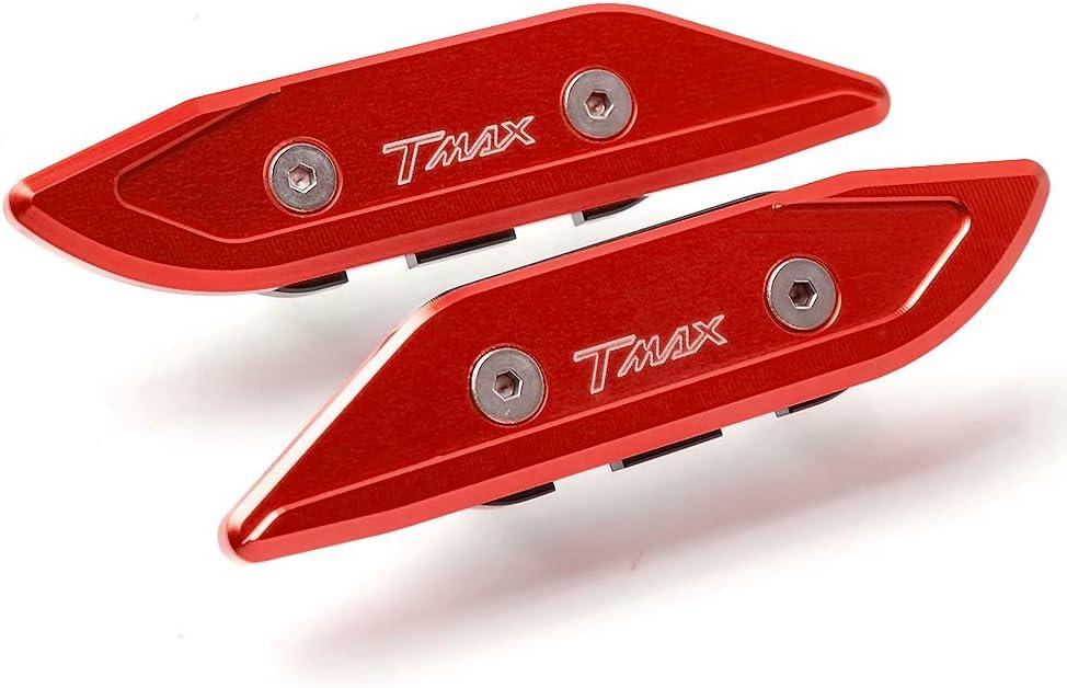 TMAX 2Pcs Motorcycle Handlebar Ends Plugs Balanced Plug Slider Handlebar End Cap Grips for Yamaha T-MAX 500 2008-2011,T-MAX 530 2012-2019,T-MAX 530 DX SX 2017-2019-Red