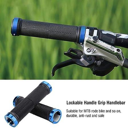 BabyGo (Set of 2) Handlebar Gloves Mountain Bicycle MTB Handlebar Grips Rubber Anti-Slip Handle Grip Cycle (Blue)