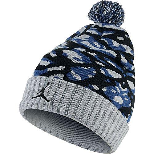 d9ff44a53e6a05 ... switzerland jordan camo pom beanie hat blue black grey 686937 013 size  os deafc 3a690