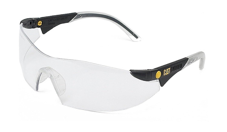 Caterpillar Mens Dozer Protective Workwear Safety Glasses White