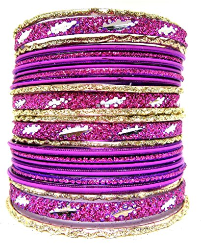 [Set of Dark Purple Bangle Bracelets for Women] (Bollywood Costume Party)