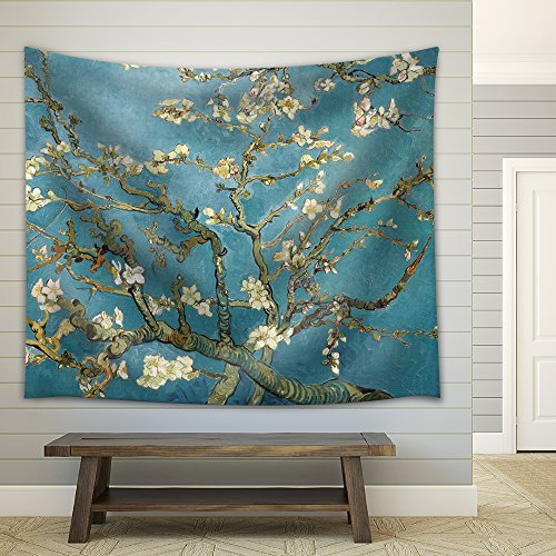 Almond Blossoms by Vincent van Gogh Fabric Tapestry