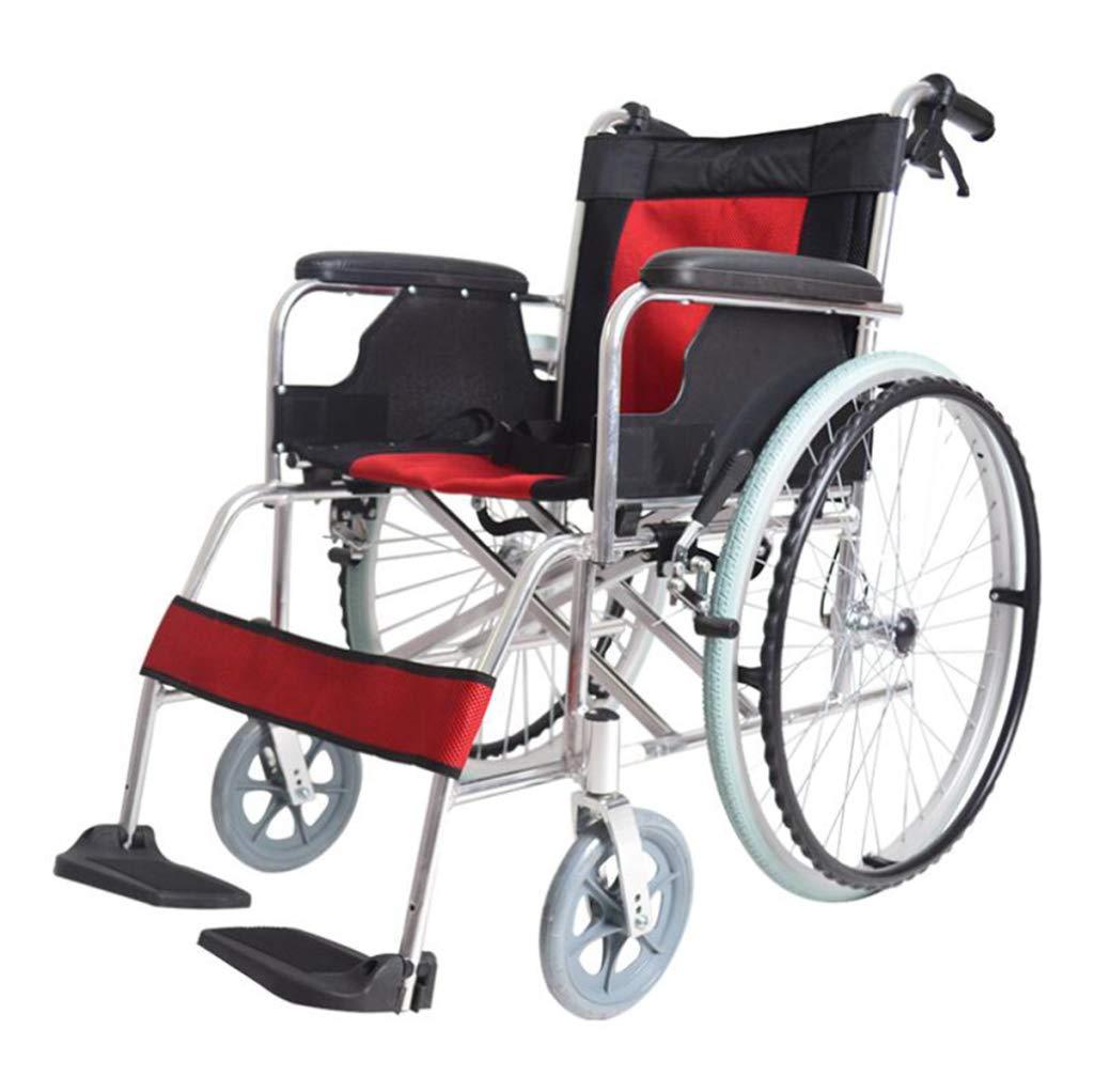 【メーカー包装済】 HSBAIS B07NLY1T9J ロックハンドブレーキ付き車椅子軽量折りたたみ、自走用車いすチェアーシート幅18インチ,Red Red HSBAIS Red B07NLY1T9J, ブランドショップ 還元屋:0ae4d844 --- a0267596.xsph.ru