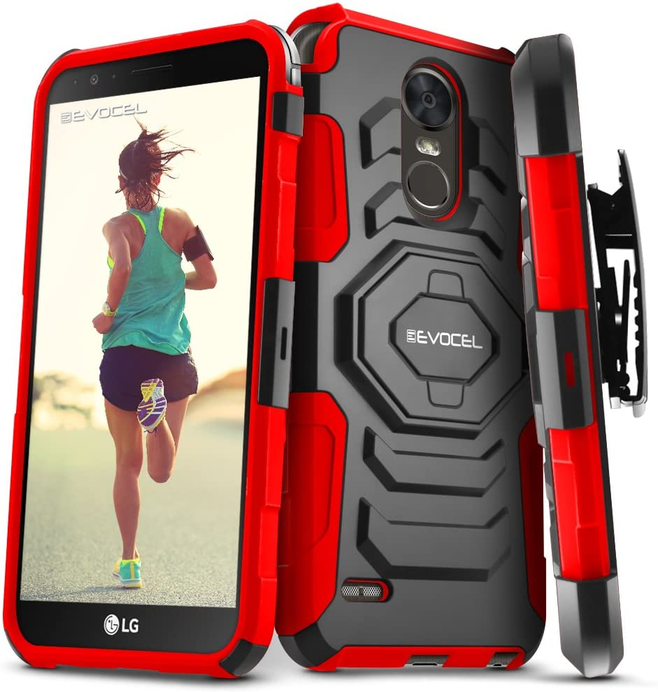 LG Stylo 3 / LG Stylo 3 Plus Case, Evocel [New Generation Series] Belt Clip Holster, Kickstand, Dual Layer for LG G Stylo 3 (LS777) / LG G Stylo 3 Plus (2017 Release), Red